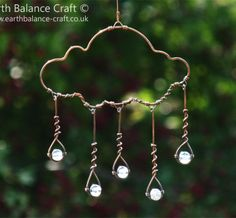This would be so cute hanging as an ornament, larger for a tree decoration outside, and it would make a really fun pendant (beads could be any color for decor or clothes) This says:  Rain_Cloud_Hanging_Decoration_8