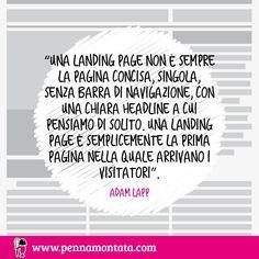Che ne dici di questa definizione di landing page? #copywriter #scrittura #copywriting