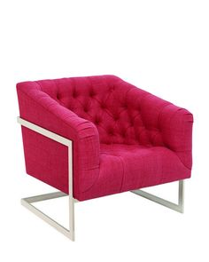 """Pucker Up """"Tufted, cantilevered, and pink—I fell in love with this chair the moment I set eyes on it at High Point Market."""" –Lonny Market E..."""