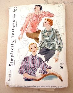 1930s Blouse Pattern at Wearing History