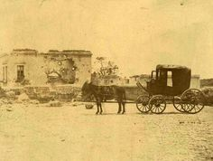 El carruaje en el que llegó Maximiliano a su ejecución en el Cerro de las Campanas en Querétaro, junio de 1867.