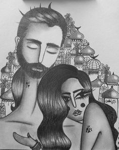 #art #dream #love #couple #pencil #baghdad #iraq #hasnaatabra #sketch #drawing