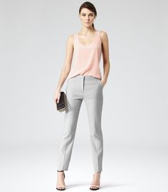 Silk front racer vest in faint rose colour by Reiss. Tuck it in or pull it out, It'll look amazing on you... It's Reiss for so and so sake! #Reiss #BeMine #PinToWin