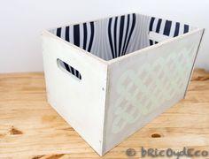 Caja pintada con pintura pizarra en spray en www.bricoydeco.com