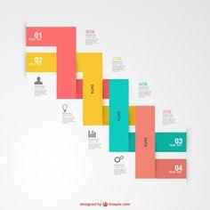 Infographiques graphiques d'étiquettes gratuit