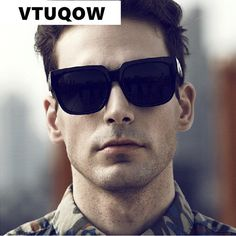 Classic Vintage Square Sunglasses - Men