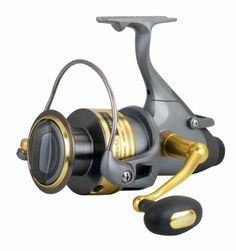 Okuma Coronado Baitfeeder Spinning Reel, Grey/Gold, Small Visit the image link more details.