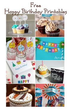 Happy Birthday Free Party Printables! Such cute designs for a celebration.