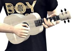 Ukulele instrument & poses by Lonelyboy at Happy Life Sims via Sims 4 Updates