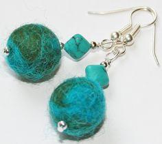 Felted earrings!
