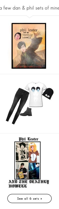 """""""a few dan & phil sets of mine"""" by daponypinkie ❤ liked on Polyvore featuring art, Topman, Timberland, Sykes and fail"""