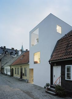 Modern townhouse in a historic street in Sweden