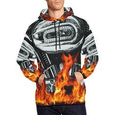 7afdd805fa1 Motorcycle fire All Over Print Hoodie for Men - myautogift Hoodie