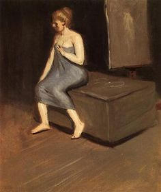 Edward Hopper - Sitting Model, ca. 1902