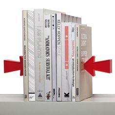 Serre-livres Arrow magnétique - Lot de 2 Rouge - Pa Design