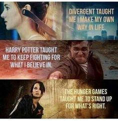 Divergent, Harry Potter, Hunger Games
