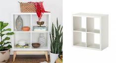 IKEA HACK : 15 façons d'utiliser l'étagère Kallax Kallax Ikea Hack, Wine Fridge, Baby Bedroom, Ceramic Beads, Home Furniture, Layout, Presque Rien, Shelves, Home Decor