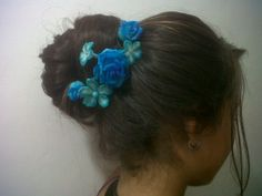 flores de masa flexible para el cabello