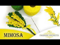 TUTORIAL: Mimosa all'Uncinetto - YouTube Crochet Flower Patterns, Crochet Flowers, Floral Motif, Free Pattern, The Creator, Handmade, Hobby, Gadget, Youtube