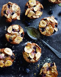 Simmone Logue's blueberry and banana breakfast muffins, still warm from the oven, are all you need to perk up your morning – alongside a strong coffee, of course