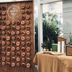 donut wall doughnuts wedding dessert | Going to the Chapel ...