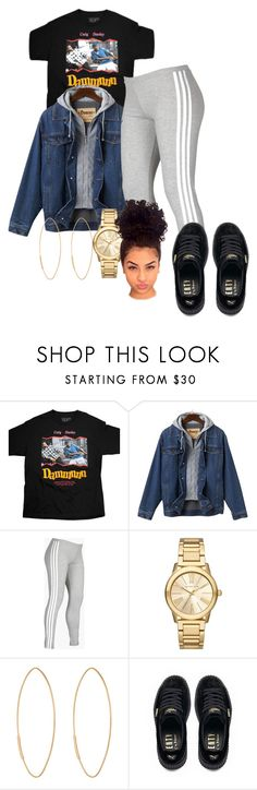 """Untitled #1016"" by ringaling ❤ liked on Polyvore featuring adidas, Michael Kors, Lana and Puma"