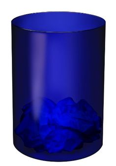 This elegant Ice #Blue Wastebasket from #CEP is transparent with attractive contrasting edges. Its contemporary styling and high gloss finish are designed to comp...