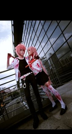Mirai Nikki gender bender of Yuno and the one and only crazy pink haired chick Yuno