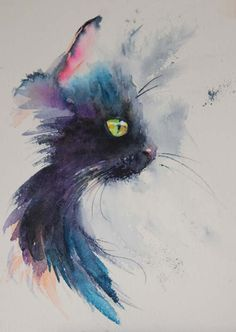 The magic of watercolour painting virtual gallery - jean haines, artist - cats watercolor cat Watercolor Cat Tattoo, Easy Watercolor, Cat Watercolour, Watercolour Paintings, Tattoo Gato, Hp Tattoo, Cat Tattoos, Ankle Tattoos, Arrow Tattoos