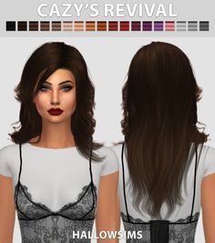 Hallow Sims: Cazy's Revival hair retextured  - Sims 4 Hairs - http://sims4hairs.com/hallow-sims-cazys-revival-hair-retextured/