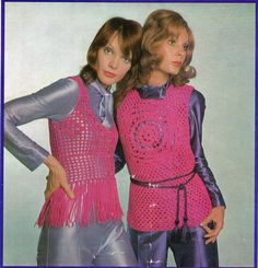 Vests & Jackets 70s Vintage Crochet