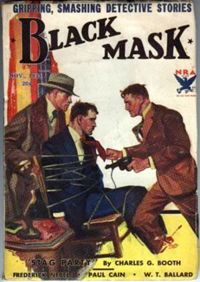 Black Mask early cover - noir detective fiction