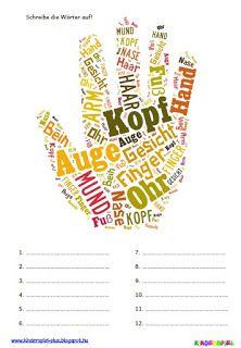 Kinderspiel Plus: Wortbild Körperteile1 French Images, Apps For Teachers, German Language Learning, German Words, Classroom Organisation, Job Career, World Languages, Learn German, Teaching Materials