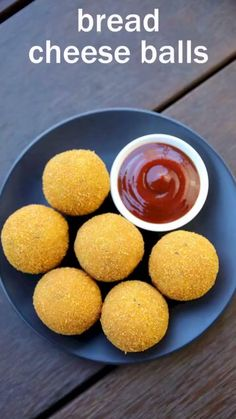 how to make bread cheese balls recipe, cheese bread balls with step by step photo/video. cheesy snack made from leftover bread slices and mozzarella cheese. Cheese Ball Recipes, Snack Recipes, Cooking Recipes, Corn Cheese Balls Recipe, Dinner Recipes, Easy Recipes, Salad Recipes, Potato Balls Recipe, Cooking Eggs