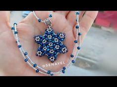 Yıldız Model Cevşen Kolye Yapımı || Star Necklace Making #Tutorial - YouTube Diy Jewelry Necklace, Bead Jewellery, Bead Earrings, Beading Patterns Free, Beaded Jewelry Patterns, Making Bracelets With Beads, Beaded Bracelets, Diy Crafts Jewelry, Handmade Jewelry