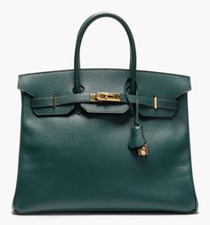 a girl can dream, right? Hermes Vintage - Dark Green Courchevel Leather Birkin Tote