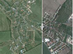Veľké obytné štvrte podľa satelitných záberov zmenili mnohé obce pri Bratislave na nepoznanie.