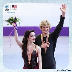 Meet Meryl Davis and Charlie White. They're an ice dancing duo from Michigan. Send three cheers their way with #ItsOurTime