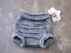 Diaper cover in gray merino wool soft soaker gray by TinyOrchids