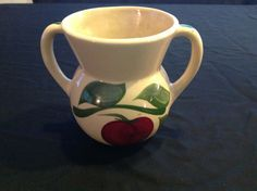 Watt Pottery 98 Apple Sugar Bowl no lid by Vintagerescuemission, $85.00