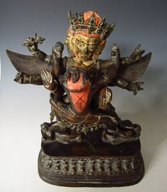 Tibetan Antique Bronze Figure of Winged Hayagriva. pre 1800.