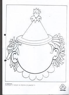 Draw a clown face Clown Cirque, Le Clown, Clown Faces, Circus Clown, Circus Theme, Circus Party, Preschool Circus, Preschool Activities, Clowns