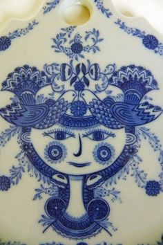 Bjorn Wiinblad Woman Tile Wall Hanging Cheese Board on Etsy by EdibleComplex