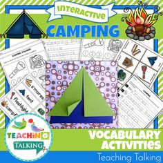 This adorable Camping Vocabulary Activities pack includes 5 interactive speech therapy activities that will help you reinforce theme based vocabulary for PreK & Kindergarten students. Teaching Vocabulary, Teaching Themes, Vocabulary Activities, Interactive Activities, Teaching Activities, Shape Activities, Language Activities, Preschool Speech Therapy, Preschool Classroom