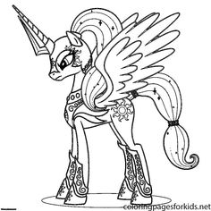 Free Printable My Little Pony Coloring Pages For Kids Character