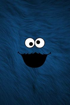 iphone wallpaper - blue cookie monster background