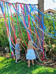 The paper tape streamers are SO fun! Maybe we make an entry way to the tent!