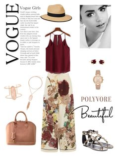 """""""Burgundy Bliss!"""" by kikikoji ❤ liked on Polyvore featuring Valentino, Pierre Hardy, Louis Vuitton, Kendra Scott, Christys' and Michael Kors"""