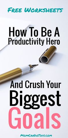 That is how to set goals like a productivity rockstar! Free Worksheets and productivity tips. How to set goals that you will accomplish! Great Productivity Tips for moms.