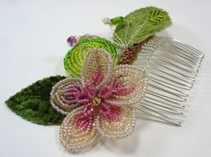 Bella Flower Comb  Fab Handmade Beaded Flower Comb by SLCDesignsUK, $125.00